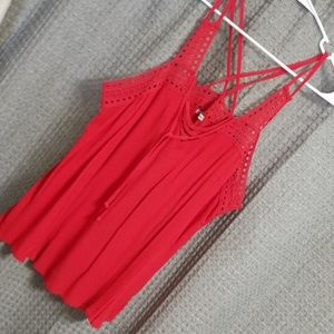 Maurices red top with straps